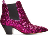 Marc Jacobs Black Sequin Kim Boots