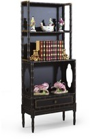 The Well Appointed House Regency Bamboo Bookcase in Black