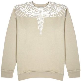 Marcelo Burlon County of Milan Pictorial Wings printed cotton sweatshirt