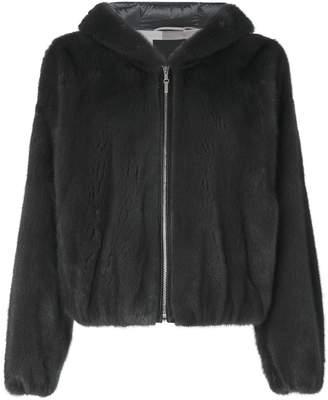 Liska zipped hooded jacket