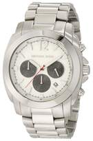 Michael Kors MK8242 Chronograph Cameron Silver Dial Stainless Steel Mens Watch