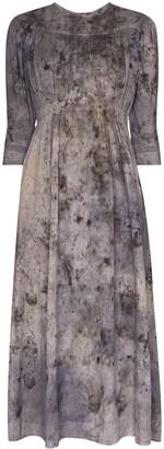 Mimi Prober Georgia tie-dye effect lace dress
