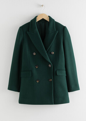 And other stories Double Breasted Wool Blend Jacket