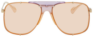 Gucci Gold and Orange Bold Bridge Sunglasses