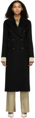 Nanushka Black Wool Lana Coat