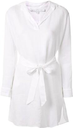 POUR LES FEMMES Belted Shirt Dress
