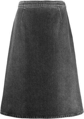 Prada A-line denim skirt
