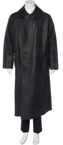 Ralph Lauren Purple Label Leather Overcoat
