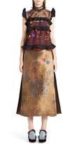 Fendi Women's Embroidered Tulle Overlay Blouse