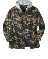 Boulder Creek Kingsize Men's Big & Tall Removable Hood Shirt Jacket