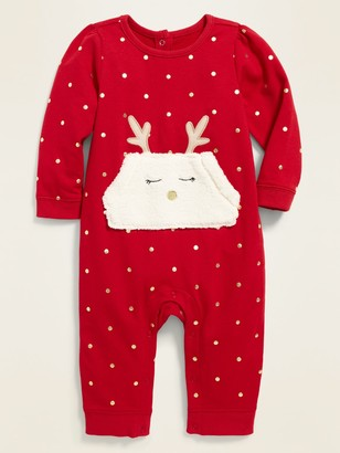 Old Navy French Terry Reindeer-Pocket One-Piece for Baby