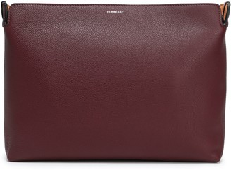 Burberry Color-block Pebbled-leather Pouch