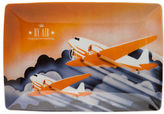 Vista Alegre NEW Transcontinental By Air Rectangular Plate