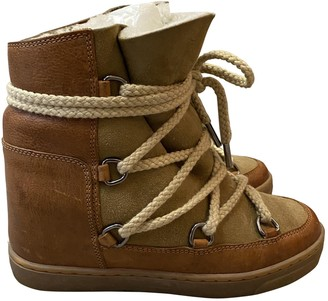 Isabel Marant Nowles Camel Leather Ankle boots