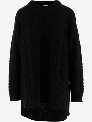 P.A.R.O.S.H. Black Alpaca and Wool Blend Women's Long Sweater