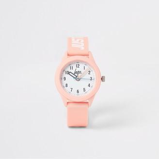 River Island Girls Hype Pink watch