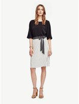 Ann Taylor Petite Mixed Stripe Full Skirt