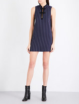 Ganni Oackwood pinstripe mini dress