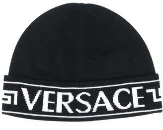 Versace Logo Wool Beanie