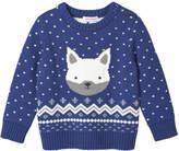 Joe Fresh Baby Boys' Long Sleeve Graphic Sweater, Blue Jay (Size 12-18)