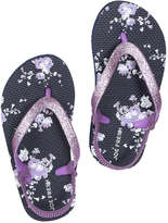 Joe Fresh Toddler Girls' Flip Flops, Dark Navy (Size M)