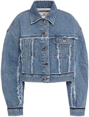 Acne Studios Cropped Frayed Denim Jacket