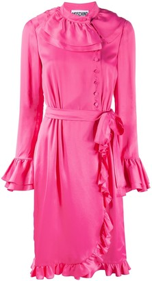 Moschino Ruffled Wrap Dress