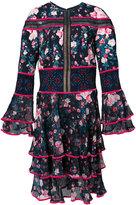 Tadashi Shoji floral frill panel dress