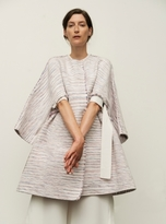 Eudon Choi Candida Oversized Coat in Multi Cotton Weave