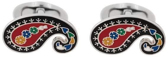 Etro paisley embellished cufflinks