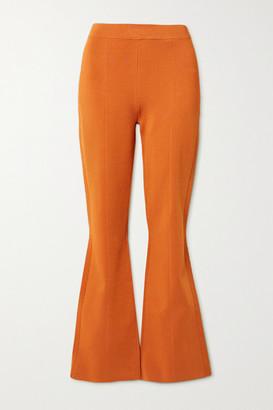 Joseph Knitted Flared Pants - Orange