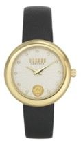Thumbnail for your product : Versus By Versace Women's Lea Black Leather Strap Watch 35mm