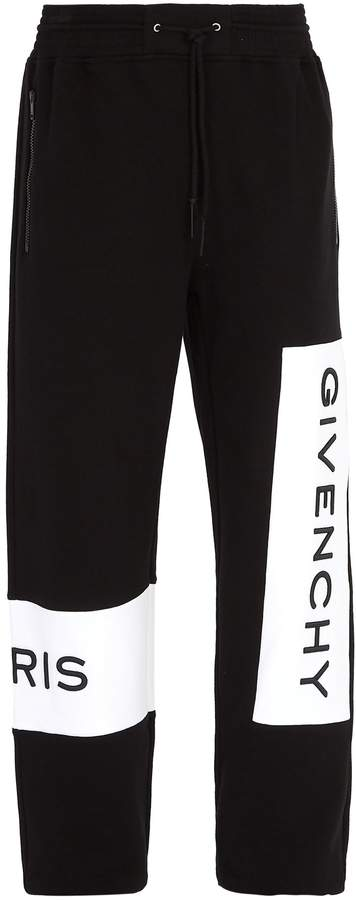 Givenchy Logo-embroidered cotton track pants