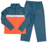Puma Boys 4-7 Tricot Colorblock Jacket & Pants Set
