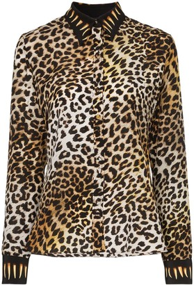 Rockins Leopard Print Silk Shirt