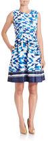 Vince Camuto Geo-Print Scuba Dress