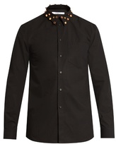 Givenchy Cuban-fit Studded-collar Cotton Shirt