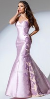 Tony Bowls Le Gala Floral Mikado Evening Gown