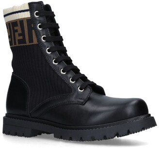Fendi FF Worker Lace-Up Boots