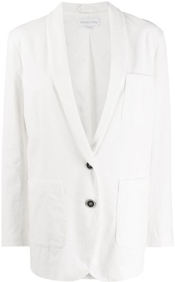 Patrizia Pepe tuxedo-style single breasted blazer