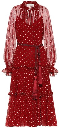 Zimmermann Ladybeetle Swing polka-dot dress