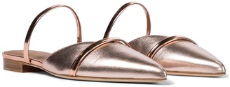 Malone Souliers Frankie metallic leather slippers