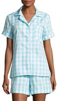 BedHead Gingham Shortie Pajama Set, Aqua, Plus Size