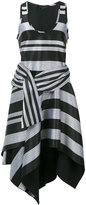 Proenza Schouler striped evening dress - women - Silk/Cotton/Viscose - 4