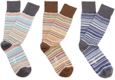 Paul Smith Men's 3 Pack Multi Stripe Socks Multi