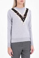 ADAM by Adam Lippes Lace Insert Sweater