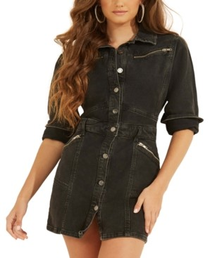GUESS Joplin Cotton Denim Mini Dress