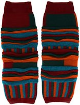 Issey Miyake striped leg and arm warmers - men - Acrylic/Nylon/Mohair/Wool - One Size