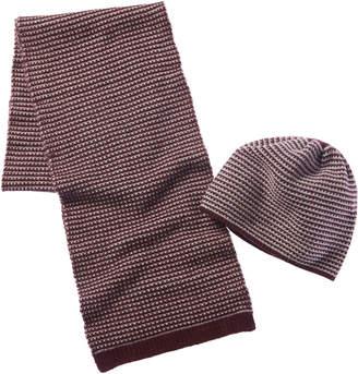 Portolano Cashmere Hat & Scarf Gift Box