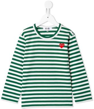 Comme Des Garçons Play Kids embroidered logo T-shirt